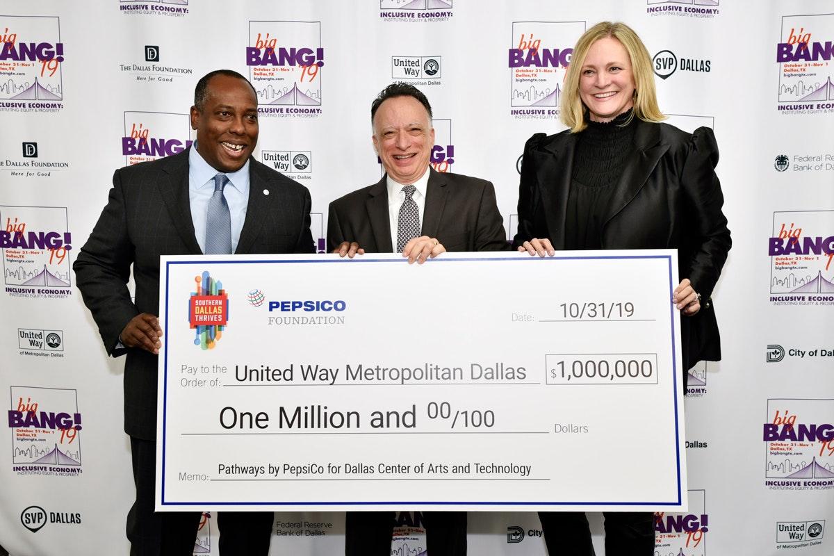 SDT PepsiCo donate $1 million check to United Way of Metropolitan Dallas