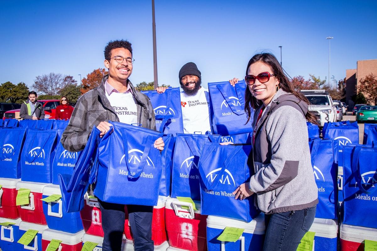 Texas Instruments volunteers, Meals On Wheels