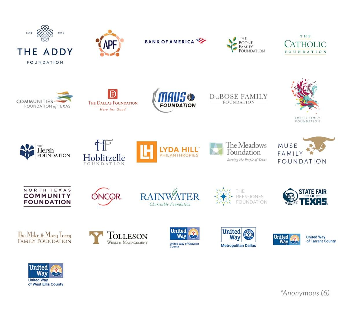Logos of NTC Funders